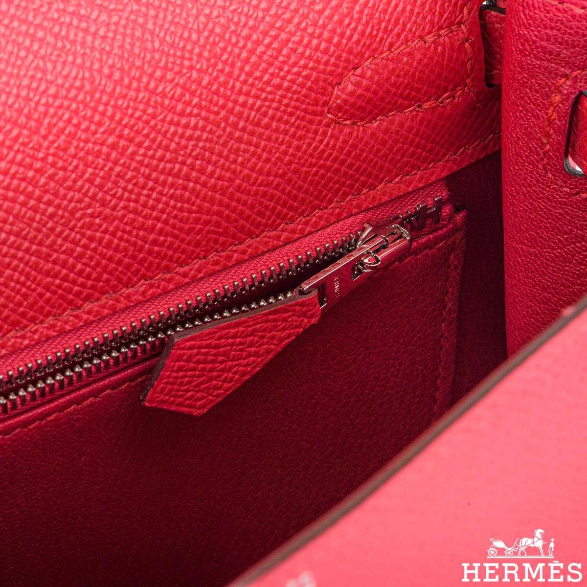 Hermès  Kelly II Sellier 25cm Epsom Rose Extreme PHW